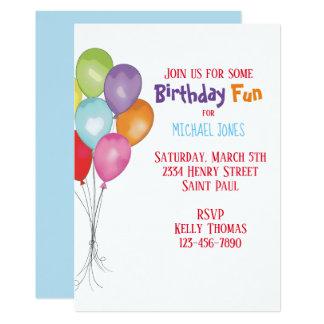 Carte Le joyeux anniversaire monte en ballon