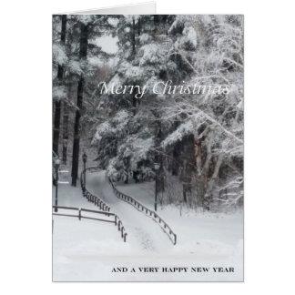 Carte Le Joyeux Noël d'ADKs… la route moins a voyagé