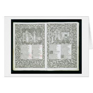 """Carte Le """"Kelmscott Chaucer"""", édité 1896 par le Kel"""