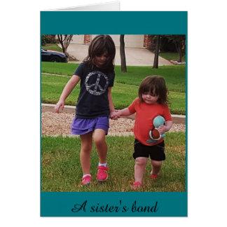 Carte Le lien de la soeur