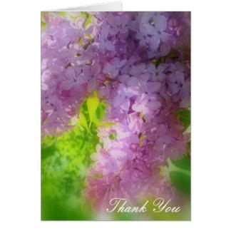 Carte Le lilas de personnaliser remercient vous ou la