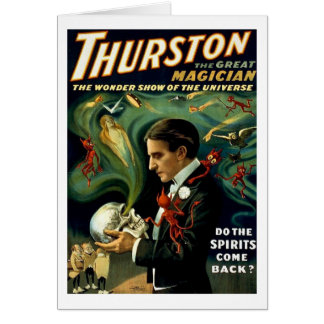 Carte Le magicien célèbre du monde de Thurston - cru