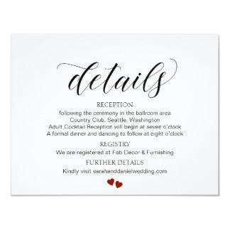 Carte Le mariage élégant de typographie détaille la