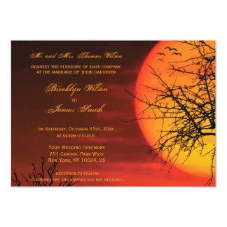 Carte Le mariage fait sur commande de Halloween invite