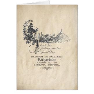 Carte Le mariage vintage de conte de fées vous