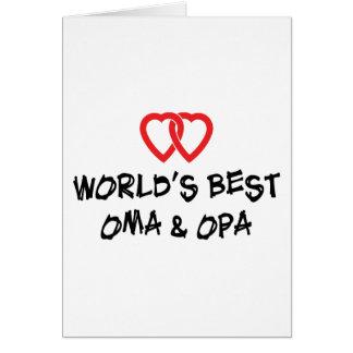 Carte Le meilleur cadeau d'Oma et d'Opa du monde