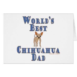 Carte Le meilleur papa de chien du chiwawa du monde