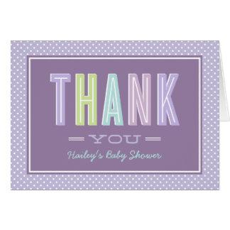 Carte Le Merci | de baby shower chic saisissent le