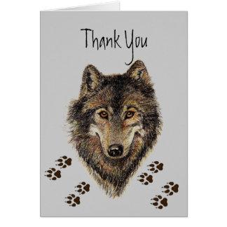 Carte Le Merci, loups, loup dépiste l'animal
