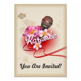 Carte Le microphone d'invitation de partie de karaoke