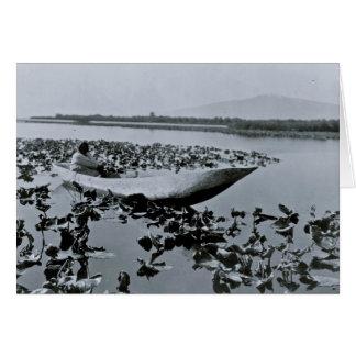 Carte Le Natif américain de Klamath a creusé le canoë
