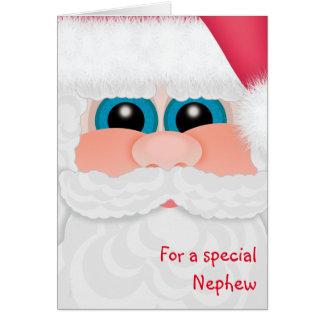 Carte Le neveu doux à l'amusement Père Noël de Noël font