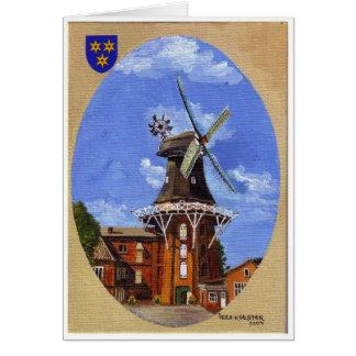 Carte Le Norden Mühle peint en acrylique