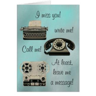 Carte Le nostalgique m'écrivent m'appellent