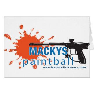 Carte Le Paintball de Macky
