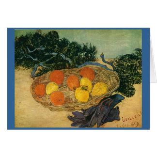 Carte Le panier de Vincent van Gogh du fruit et des