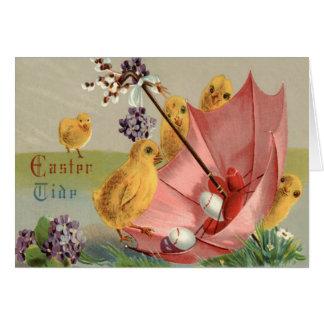 Carte Le parapluie de poussin de Pâques m'oublient pas