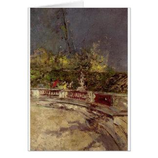 Carte Le parapluie rouge par Giovanni Boldini