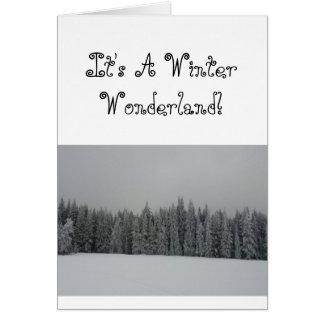 Carte Le pays des merveilles d'hiver