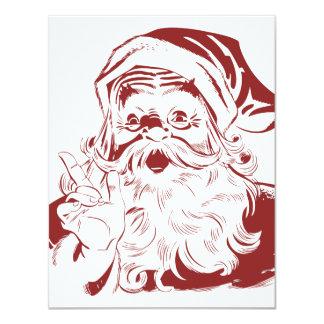 Carte Le père noël gai dans le rétro Joyeux Noël