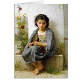Carte Le petit tricoteur - William-Adolphe Bouguereau