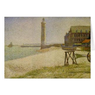Carte Le phare chez Honfleur par Georges Seurat