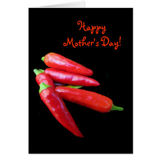 Carte Le piment fort poivre le jour de mères