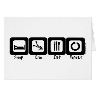 Carte Le piqué de sommeil mangent la répétition