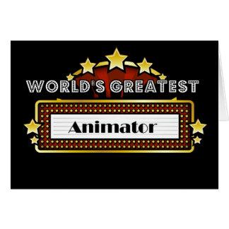Carte Le plus grand animateur du monde