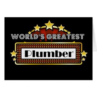 Carte Le plus grand plombier du monde