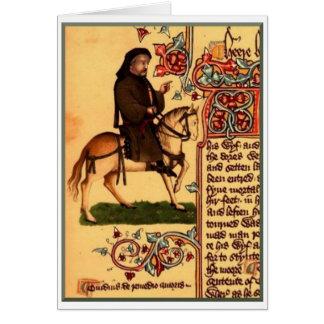 Carte Le poète Chaucer, manuscrit d'Ellesmere, circa