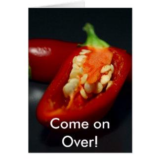 Carte Le poivre de piments, avancent plus de !