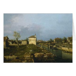 Carte Le Porta Portello, Padoue par Canaletto