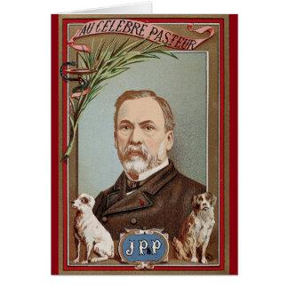Carte Le portrait célèbre de Louis Pasteur historique