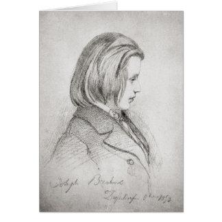 Carte Le portrait de Johanes Brahms a vieilli vingt,
