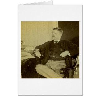 Carte Le Président Roosevelt à son bureau dans la Maison