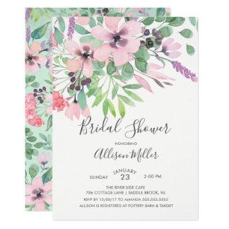 Carte Le printemps fleurit l'invitation nuptiale de