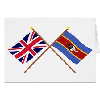 Carte Le R-U et les drapeaux croisés par Souaziland