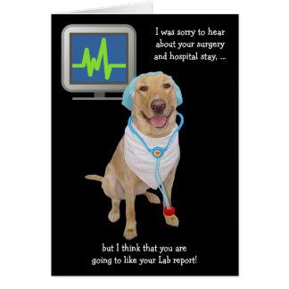 Carte Le rapport personnalisable drôle de laboratoire