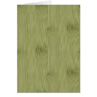 Carte Le regard du bambou dans le grain olive en bois de