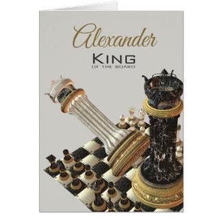 Carte Le Roi Of The Board d'échecs