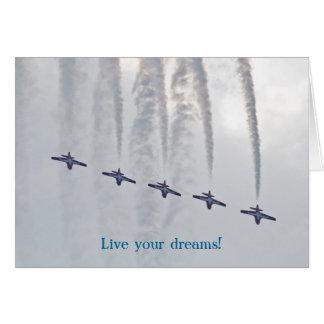Carte Le salon de l'aéronautique vivent vos rêves