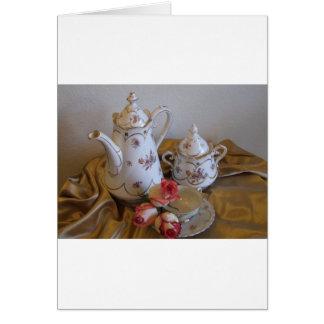 Carte Le service à thé d'Oma