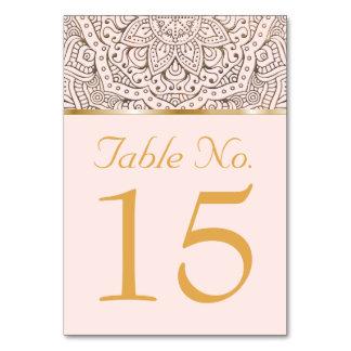 Carte Le Tableau de mariage numéro | Boho or floral de