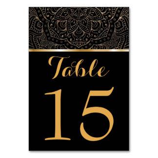 Carte Le Tableau noir d'or numéro | mandala floral de