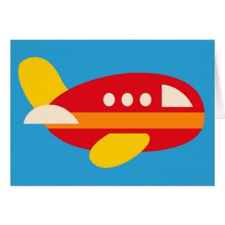 Carte Le thème mignon de transport d'avion badine des