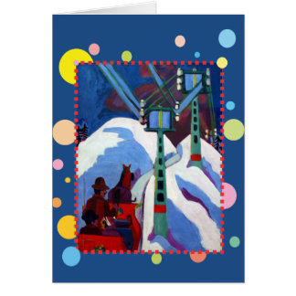 Carte Le tour de Sleigh par Ernst Ludwig Kirchner