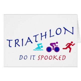 Carte Le triathlon, le font Spooked
