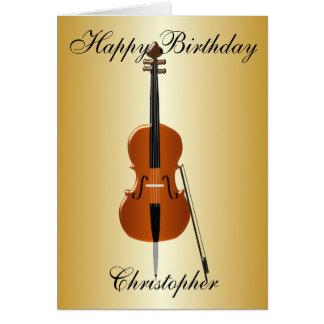 Carte Le violoncelle ajoutent juste l'anniversaire nommé