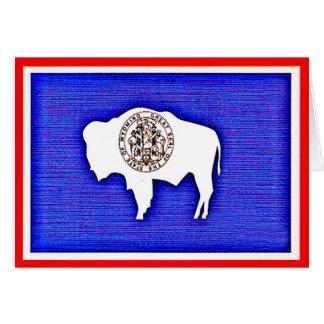 Carte Le Wyoming l'état d'égalité